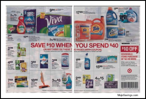 target ad scans *HOT* $10 off $40 Target Coupon