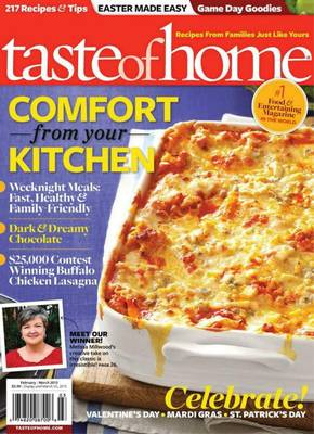 taste of home magazine cover Taste of Home Magazine Subscription only $4.50 per year!