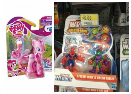 toy Spider Man & My Little Pony Figures only $3 at Walmart!
