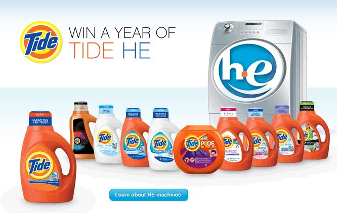 win tide for a year Win a Year of Tide HE! (52 winners)