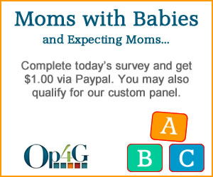 mom survey Moms & Pregnant Moms Survey   Get $1 via Paypal!