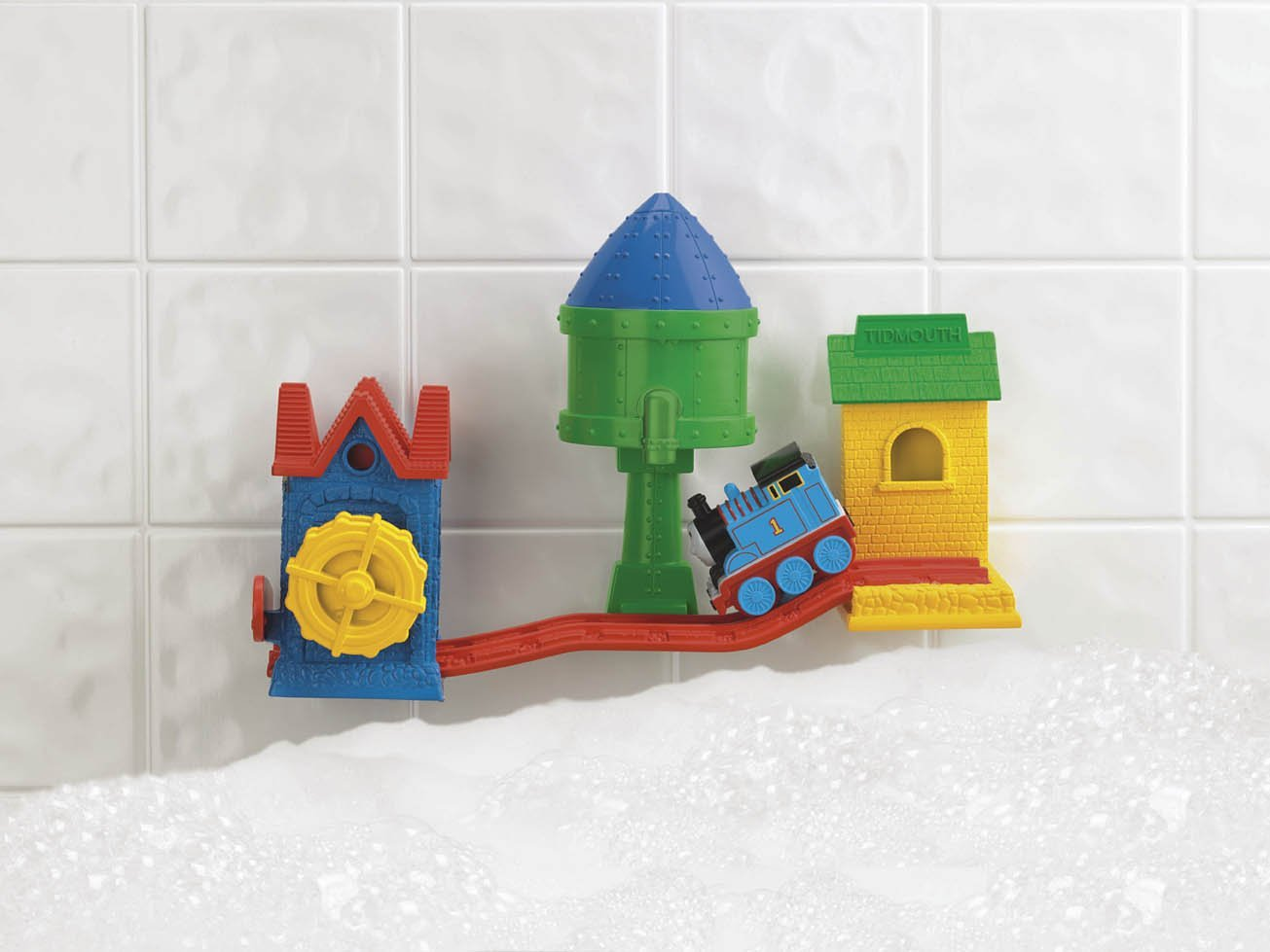 Thomas the train preschool thomas bath tracks only 997 for Thomas the train bathroom set