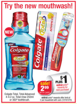 Colgate Total Mouthwash CVS ad Free Colgate Total Mouthwash at CVS!