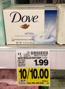 Dove beauty bar at Kroger