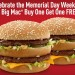 McDonald's Big Mac bogo deal