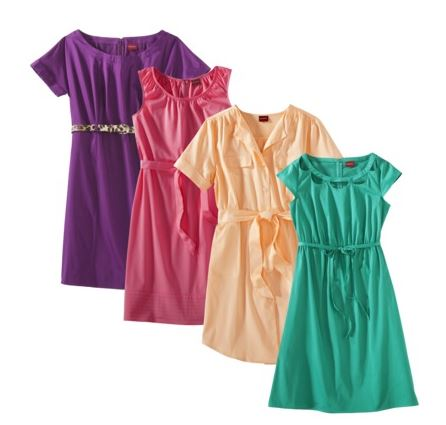 Merona Womens Sateen dresses Merona Sateen Dresses Just $15 (reg. $28)!