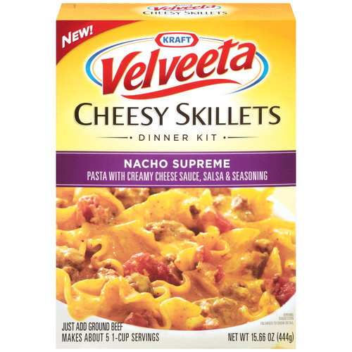 Velveeta Cheesy Skillet Velveeta Cheesy Skillets or Casserole Dinner Kits 61¢ Money Maker at Publix