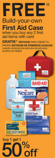 Walgreens free first aid case