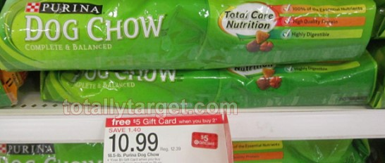 dog chow Purina Dog Chow 18.5lb Only $3.99 at Target!