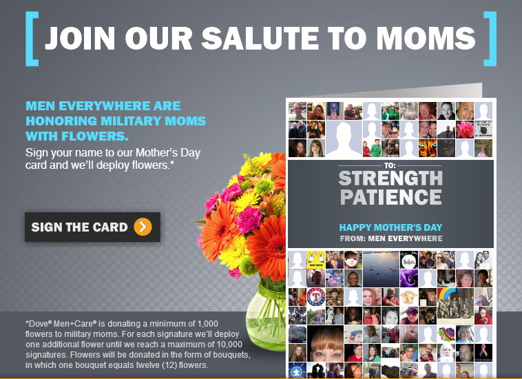 dove free flowers Free Flowers for Military Moms from Dove