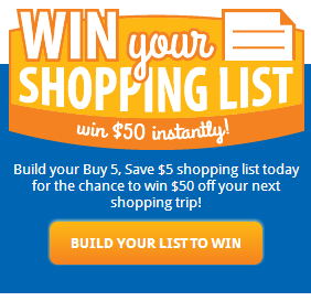 krogerinstantwin Kroger and Affiliates Shopping List Instant Win Game!  Win $50 Off of Your Next Shopping Trip!