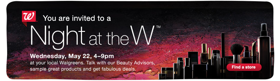 nightatw Night at the W: Beauty Specials and Sweepstakes at Walgreens!