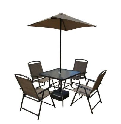7 Piece Steel Sling Folding Patio Set only $94 98 at Home