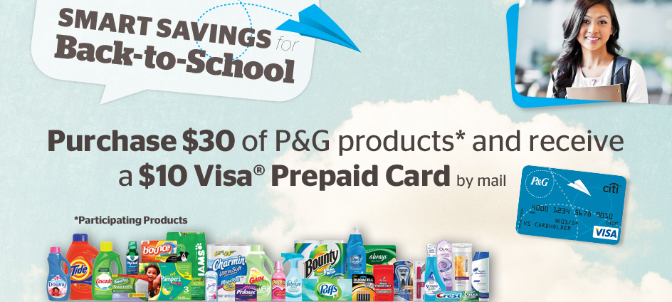 pgrebates Get $10 Visa Prepaid with $30 P&G Products Purchase!