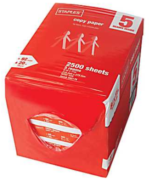 staples paper2 Free 5 Ream Case of Paper at Staples