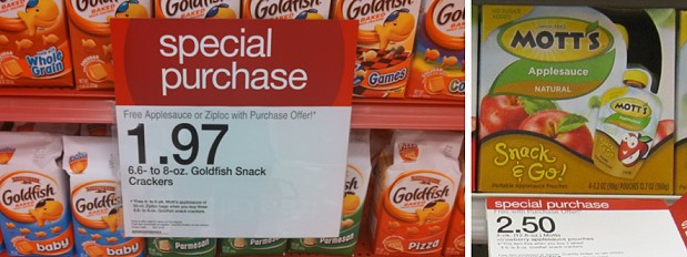 target goldfish motts Free Applesauce at Target When You Buy 3 Goldfish + Deal Scenario!