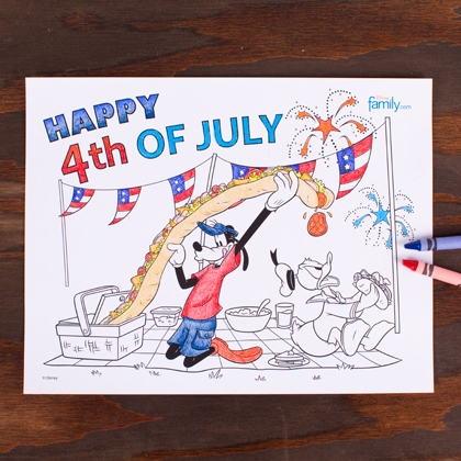 4th of july coloring page printable photo 420x420 fs 4614 Free 4th of July Coloring Page Printables with Goofy and Donald Duck!