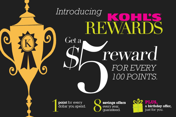 Kohls Rewards FREE $5 Kohls Rewards!