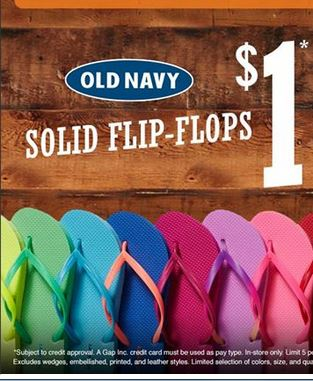 47217e8ab2bf4a Old Navy  1 Flip Flop Sale + 10% off Coupon!!!