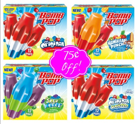 bombpop New $.75/1 Bomb Pop Popsicle Coupon + Walmart Deal!