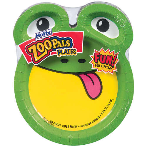 Hefty Zoo Pals Plates Only $.45 at Dollar General!