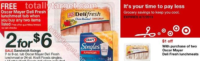 oscar mayer deal1 Buy 2 Get 1 Free Oscar Mayer + Kraft= HOT Deals at Target!
