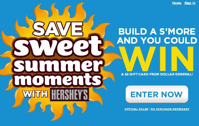 Hersheys 5 Dollar General sweepstakes Hersheys and Dollar General Sweepstakes: FREE $5 Gift Card (2,000 Winners)