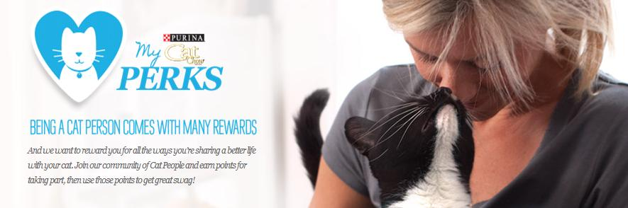 My Cat Perks FREE Purina My Cat Perks: Earn FREE Stuff