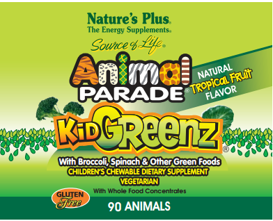 animal Free Nature's Plus Animal Parade KidGreenz Children's Vitamin Sample!