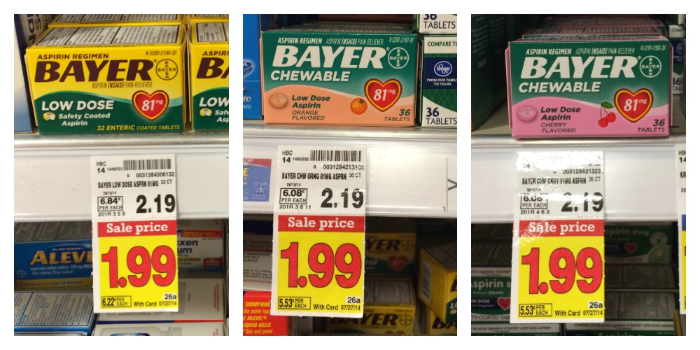 bayer1 FREE Bayer Aspirin at Kroger!