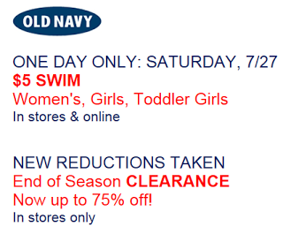 Old Navy $5 Swimsuit Sale- Today Only! - Mojosavings.com