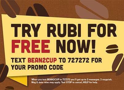 rubi FREE Seattle's Best Coffee Drink at Rubi Kiosks!