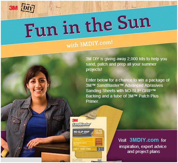 3mdiy 3M DIY Fun in the Sun Sweepstakes (2,000 Winners!)