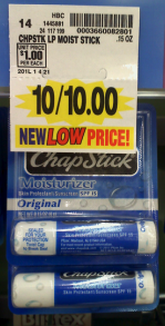 Chapstick at Kroger Chapstick only 50¢ at Kroger!