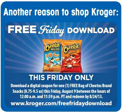 Kroger 8 9 FREE Cheetos at Kroger!
