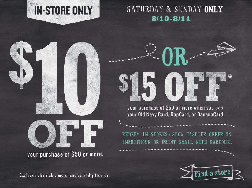 15 coupon gap outlet