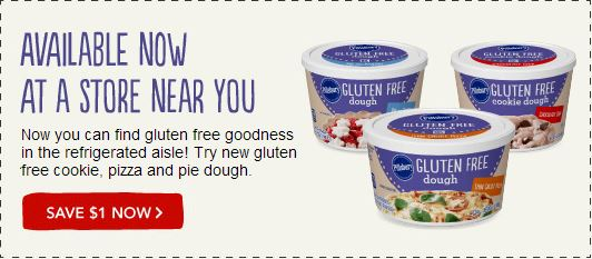 Pillsbury Gluten Free dough coupon1 Pillsbury Gluten Free Dough $1 off Coupon!