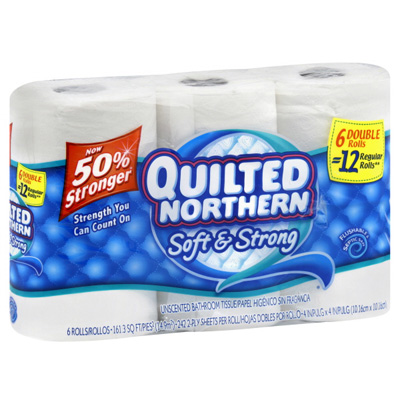 Quilted Northern toilet paper 6 pack