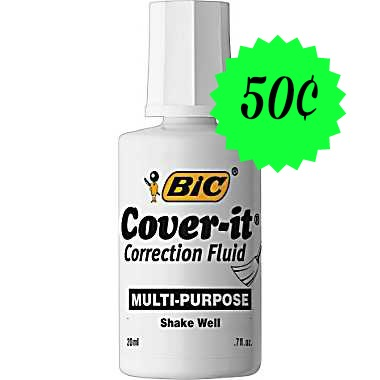 bic cover it Bic White Out Only 50¢ at Dollar Tree!