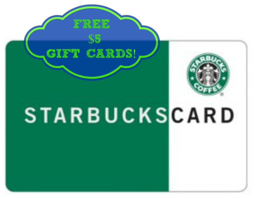 gift cards 1024x795 FREE $5 Gift Card to Starbucks or Panera Bread!