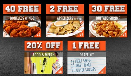 free fantasy football draft kit at hooters