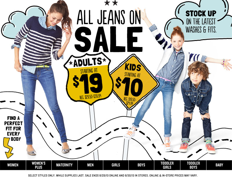 jeansoldnavy Old Navy: Childrens Jeans $10 and up, Free Shipping, & Get Back Super Cash!