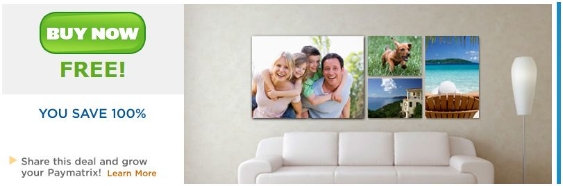 moolala FREE 8x10 Stretched Canvas Print Just Pay Shipping!
