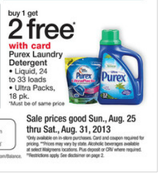 purexwal *HOT* Buy 1 Get 2 Free Purex at Walgreens!