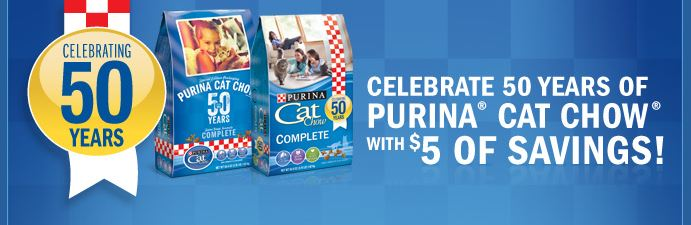 purina cat chow Free $5 MasterCard from Purina Cat Chow!