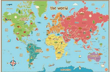 Blank Physical Map Of Middle East FREE World Map for Tea...