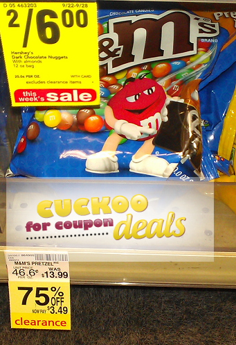 CVS MMs clearance HUGE 30oz. Bags Of Pretzel M&Ms Only $3.49 at CVS!
