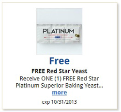Kroger Red Star Yeast FREE Red Star Yeast at Kroger!