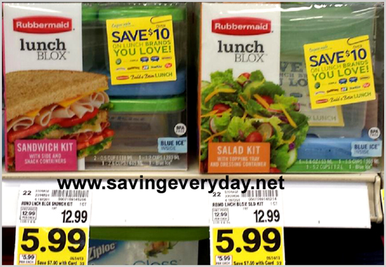 Rubbermaid lunch box at Kroger Rubbermaid Lunch Blox Just $3.99 at Kroger + $10 In Coupons!