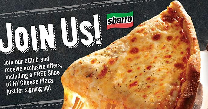 Sbarro Cheese Pizza
